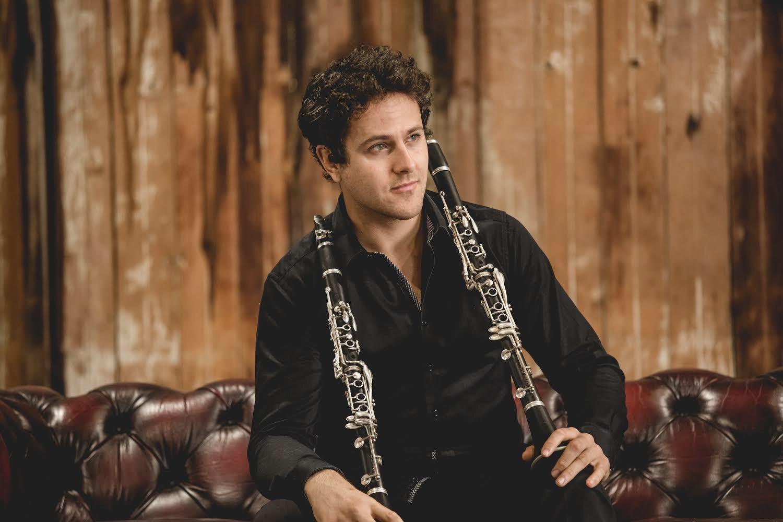 Thomas Azoury with clarinet