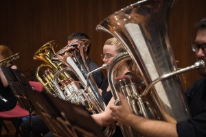 Image of people playing tubas and euphoniums